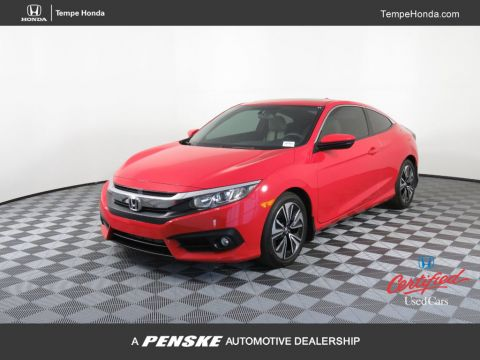 Certified Pre-Owned 2017 Honda Civic Coupe EX-T CVT